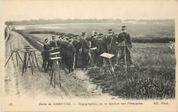 - Themes Divers -ref-M898- Militaria - Ecole De Saint Cyr - Yvelines - Topographie - Militaires - Carte Bon Etat - - Autres