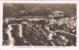18539. Postal AMELIE Le BAINS (Pyrenées Orientales) Les Lacets Et Route De Montbolo - Francia