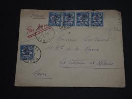 FRANCE / MAROC - Enveloppe De Meknès Pour La France En 1921, Affranchissement Type Mouchon  ( Manque 1) - A Voir - L 518 - Cartas