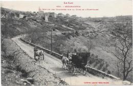 46 ROCAMADOUR - Le Service Des Courriers Sur La Côte De L'Hospitalet - Attelages - Rocamadour