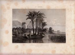 1840 - Eau-forte - Palmiers à Terracine (Terracina - Provincia Di Latina - Lazio) - FRANCO DE PORT - Stiche & Gravuren
