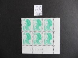 France :Coin Daté :Marianne De Gandon N° 2181  Neuf  6TP - Andere