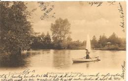 Deutschland, 1905, Stadtgartensee Mit Fontaine, Karlsruhe, Nach Freiburg, Merzhausen, Siehe Scans! - Allemagne