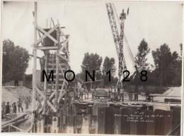 LES MUREAUX - PHOTO ORIGINALE 23X17 CMS - CONSTRUCTION DU PONT  ILE BELLE - N° 20 -13/7/1951 COULAGE DU BETON - Orte