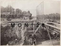 LES MUREAUX - PHOTO ORIGINALE 23X17 CMS - CONSTRUCTION DU PONT  ILE BELLE - N° 29 -2/10/1951 FERRAILLAGE SEMELLE ET MUR - Orte