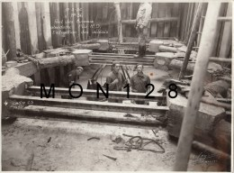 LES MUREAUX - PHOTO ORIGINALE 23X17 CMS - CONSTRUCTION DU PONT  ILE BELLE - N° 36 -11/03/1952 BATARDEAU PILE R.D - Places