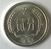 Monnaie - Chine - 2 Fen 1976- Superbe +++ - - Chine