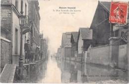 ROUEN --Rouen  Inondé - La Rue Centrale  (Ile Lacroix) - Rouen