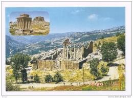Fakra The Roman Temples, Postcard Lebanon , Carte Postale Liban Libano - Lebanon
