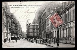 CPA ANCIENNE- PARIS (75)- RUE DE COURCELLES- SOCIETÉ DU BEC AÜER- ENTRÉE DU PERSONNEL- TRES BELLE ANIMATION - Paris (17)