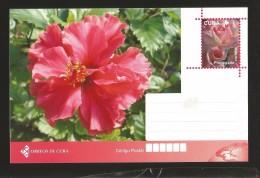 B)2015 CUBA-CARIBE, NATURE, FLOWER, POSTAL STATIONARY - Cuba
