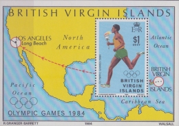BRITISH VIRGIN ISLANDS :1984: Y.BF22**MnH : ## LOS ANGELES 1984 ## : OLYMPIC GAMES,RUNNING,OLYMPIC FLAME,MAP, - Iles Vièrges Britanniques