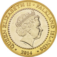 Falkland Islands, 2 Pounds, 2014, SPL, Bi-Metallic - Falkland