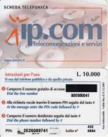 ITALY - IPcom Prepaid Card L.10000, Exp.date 31/12/01, Used - Italie