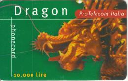 ITALY - Dragon, Pro Telecom/Tele 2 Prepaid Card L.10000, Used - Italie