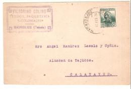 Tarjeta Postal Con  Matasellos Madridejos (toledo) 1936 - 1931-Today: 2nd Rep - ... Juan Carlos I