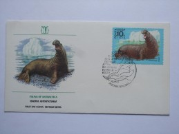 RUSSIA 1978 FAUNA OF ANTARCTICA FDC - Covers & Documents