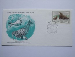 RUSSIA 1977 WORLD WILDLIFE FUND FDC - Covers & Documents