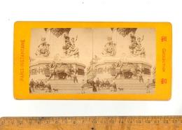 Photographie Stéréoscopique PARIS INSTANTANE : Place De La République  Stereo Picture Photo Relief 3D - Photos