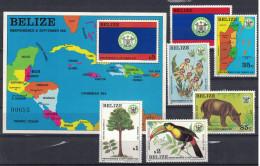 Belize. Independence. 1981-82. MNH Set And SS. SCV = 101.00 - Belize (1973-...)