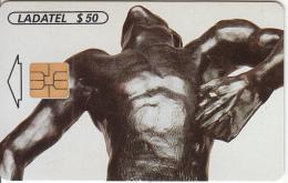 MEXICO - A.Rodin Esculturas 1996-1997/El Hombre Que Cae 1882(3/6), Chip SO3, 01/97, Used - Mexico