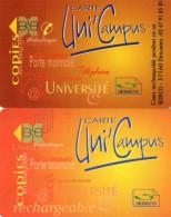 CARTES PORTE-MONNAIE  ELECTRONIQUE SEDECO Uni'Campus  (lot De 2) - Frankrijk