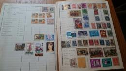 D0498  GROS LOT FEUILLES STOCK MONDE A REGARDER DE PRES COTE ++ DÉPART 10€ - Verzamelingen (in Albums)