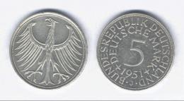 Pièce De 5 Marks 1951 - [ 6] 1949-1990: DDR