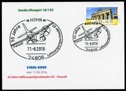 93433) BRD - Karte SoST 10/123 In 24806 HOHN Vom 11.06.2016 - 55 Jahrer Transportgeschwader 63 - Poststempel - Freistempel