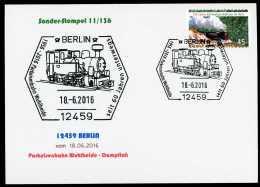93447) BRD - Karte SoST 11/136 In 12459 BERLIN Vom 18.06.2016 - 60 Jahre Parkeisenbahn Wuhlheide - [7] West-Duitsland