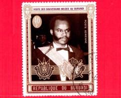 BURUNDI - Nuovo Oblit. - 1970 - Visita Dei Sovrani Belgi - Presidente Micombero - 40 P. Aerea - Burundi