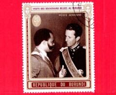 BURUNDI - Nuovo Oblit. - 1970 - Visita Dei Sovrani Belgi - Re Baldovino E Presidente Micombero - 20 P. Aerea - Burundi