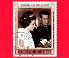 BURUNDI - Nuovo Oblit. - 1970 - Visita Dei Sovrani Belgi - Re Baldovino E Regina Fabiola - 6 P. Aerea - Burundi