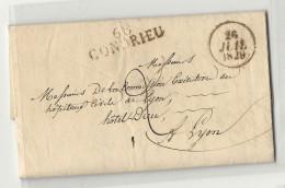 Rhone - Condrieu Pour La Commission Executive Des Hopitaux Civils De Lyon. LAC De 1829 - Marcophilie (Lettres)