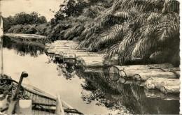 CPA-1950-AFRIQUE-GABON-PORT-GENTIL-RADEAU BOIS Sur L OGOUE-BE-Leger Pli  A Gauche - Gabon