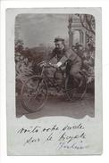 14890 - Carte Photo Voilà Votre Oncle à Bicyclette - Cyclisme