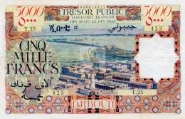 AFARS ET ISSAS  5000 F - P 30 - COPIE / COPY - 1969 - Banknotes