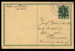Czechoslovakia - Austrian Postcard Overprinted And Sent From MISTEK In 1919. - Czechoslovakia