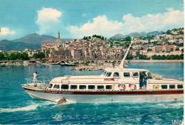 CPA-1960-06-MENTON-LA VIEILLE VILLE-BATEAU PROMENADE-Le POISSON VOLANT D ARGENT-TBE - Menton