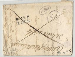 Meurthe Et Moselle - Toul Pour Lunéville. LAC En Port Payé De 1828. Cote 60euros. - Marcophilie (Lettres)