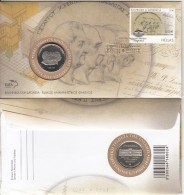 Greece - FDC, 175 Years National Bank 1841-2016, 03/16, With Medal, Unused - FDC