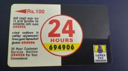 Sri Lanka-(38srlb)-hours Customer Service24-(rs.100)-used Car+1card Prepiad Free - Sri Lanka (Ceylon)