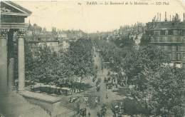 75 - PARIS - Le Boulevard De La Madeleine - Transport Urbain En Surface