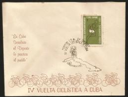 "B)1966 CUBA-CARIBE, SPORT,  BICYCLE,  CYCLING TOUR CUBA,  ""IN SOCIALIST CUBA THE PEOPLE SPORT PRACTICE"" , UNUSED, FDC - Otros"