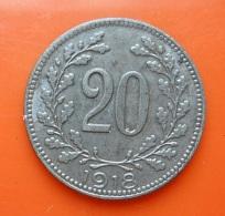 Austria 20 Heller 1918 - Monnaies & Billets