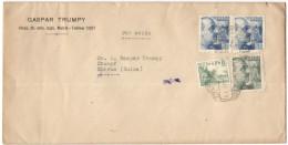 SPAGNA - ESPAÑA - Spain - Espagne - 1941 - Par Avion - 2 X 70 + 40 + 15 - Opened Passed By Censor - Censura Gubernati... - 1931-50 Storia Postale