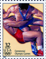 Sc#3068f 1996 USA Olympic Games Stamp- Freestyle Wrestling Athletic - Summer 1996: Atlanta