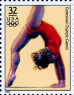 Sc#3068g 1996 USA Olympic Games Stamp-Women's Gymnastic Athletic - Summer 1996: Atlanta