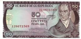 COLOMBIA 50 PESOS ORO 1973 P-414a UNC - Colombia