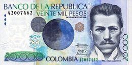 COLOMBIA 20000 PESOS 2009 P-454t UNC 24.8.2009 RARE! [CO454t] - Colombia